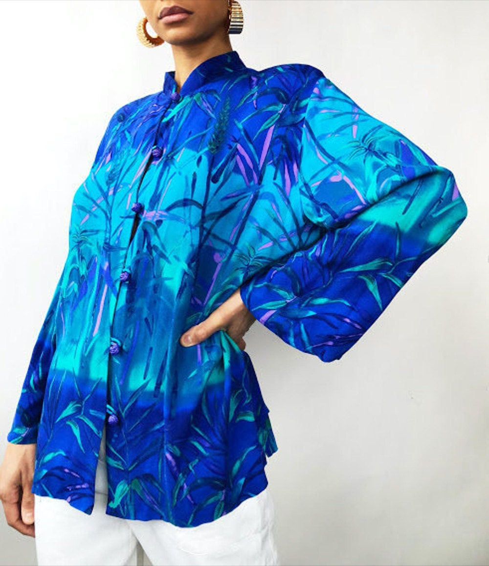 A rainforest-printed blouse from Threads of Habit