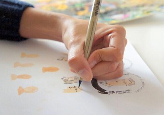etsyfeaturedshop-quillandfox-handmadecards-papergoods-sketch