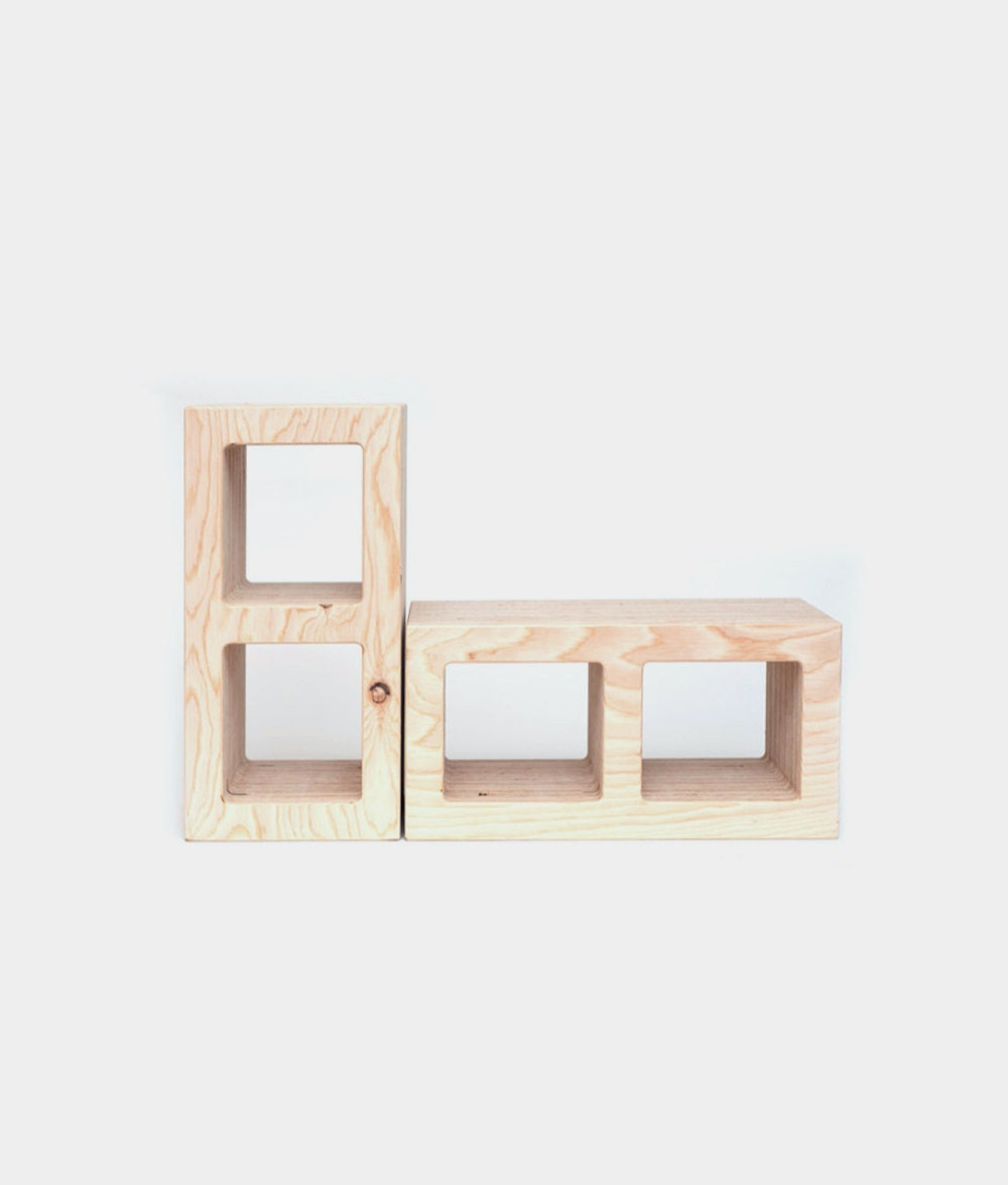 Modular wooden tinder blocks from WAAM Industries.