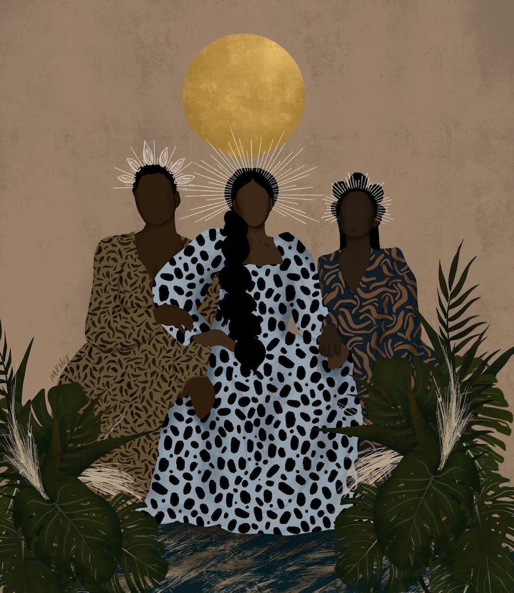 """Because Black Women"" print from M. Koby Art"