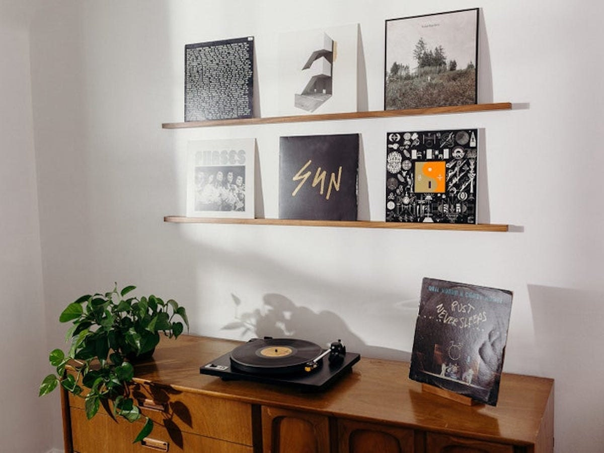 Quad record ledge from Divider Records and more of the best dad gifts from Etsy