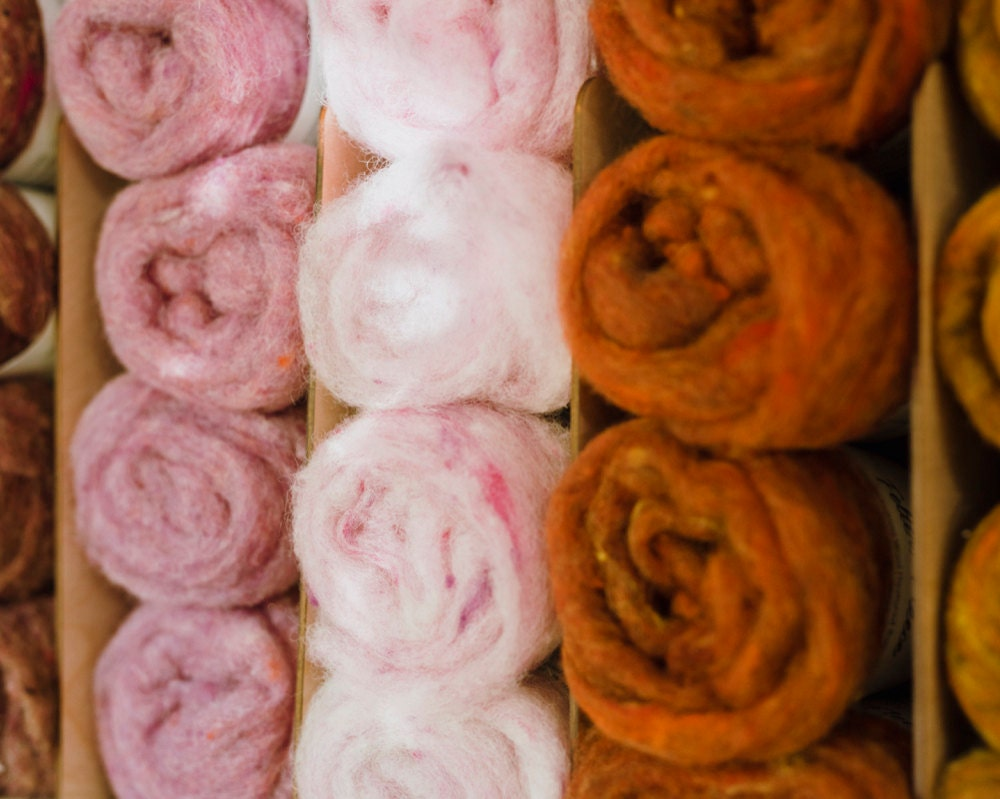 Colorful skeins of wool from Felted Sky