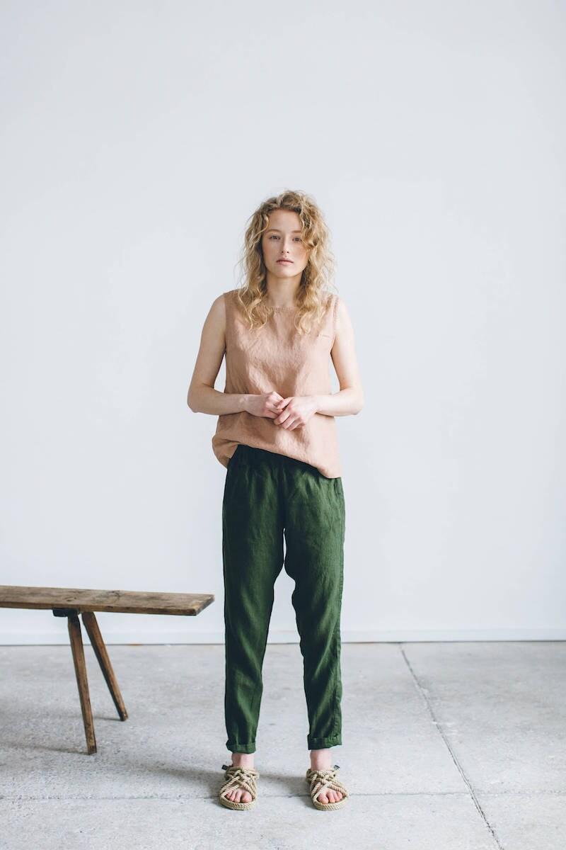 Linen Nova trousers from Linenfox