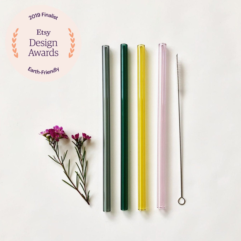 Glass straws from Brook Drabot Glass