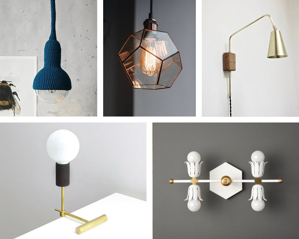 An assortment of smaller sized fixtures available on Etsy