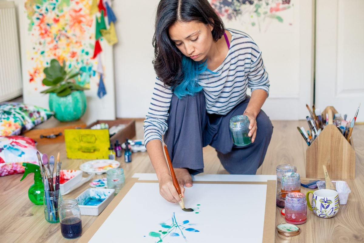 Watercolor artist Ingrid Sanchez