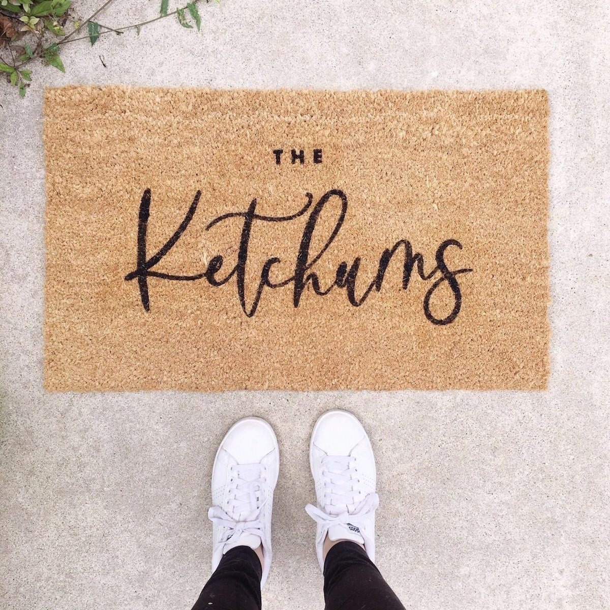 Personalized door mat from Etsy