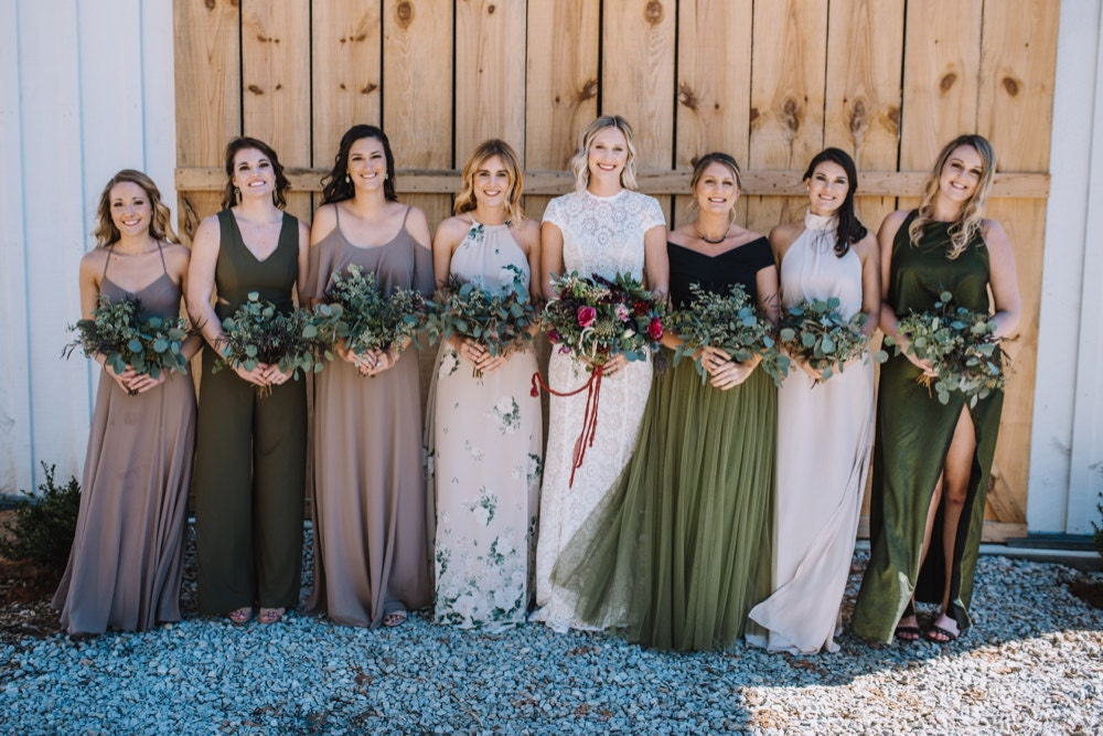 Emily and her seven bridesmaids