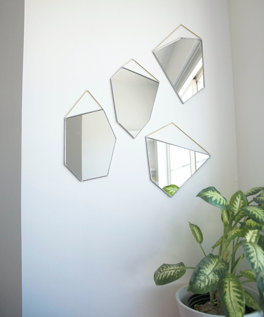 Geometric rock-shaped mirrors from Szklo Glass