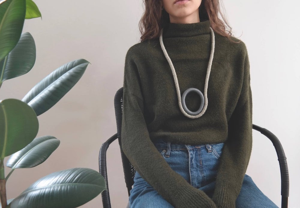 Statement rope fall fashion necklace from Annorimo