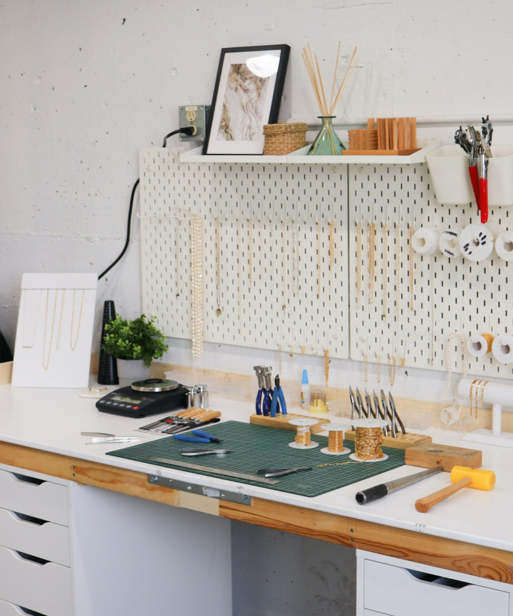 A zoomed out view of Sabrina and Abe's home studio space in Vancouver.
