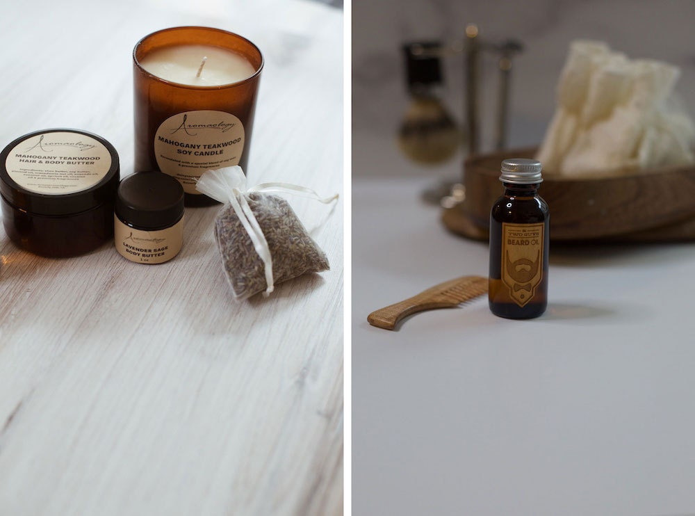 Assorted grooming products from Etsy