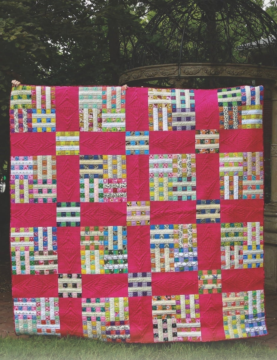 A digital patchwork quilt pattern from Etsy
