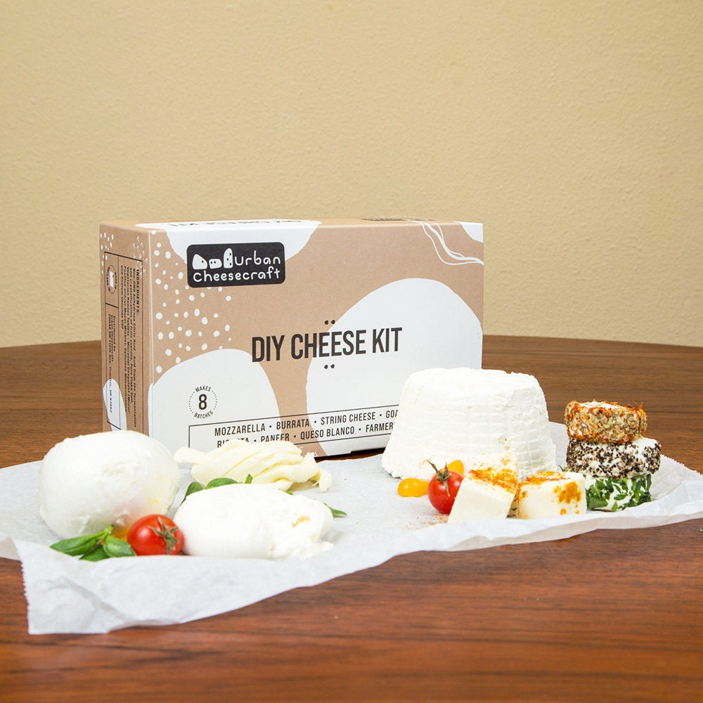 A kit for making a variety of homemade cheeses