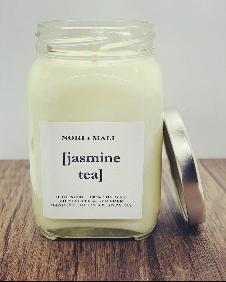 Jasmine Tea candle (10 oz.) from Nori + Mali on Etsy
