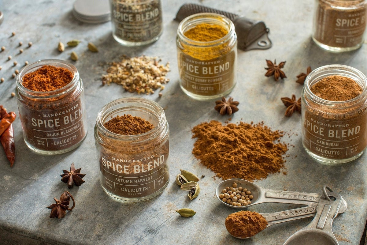 Custom set of spice blends from Calicutts Spice Co.