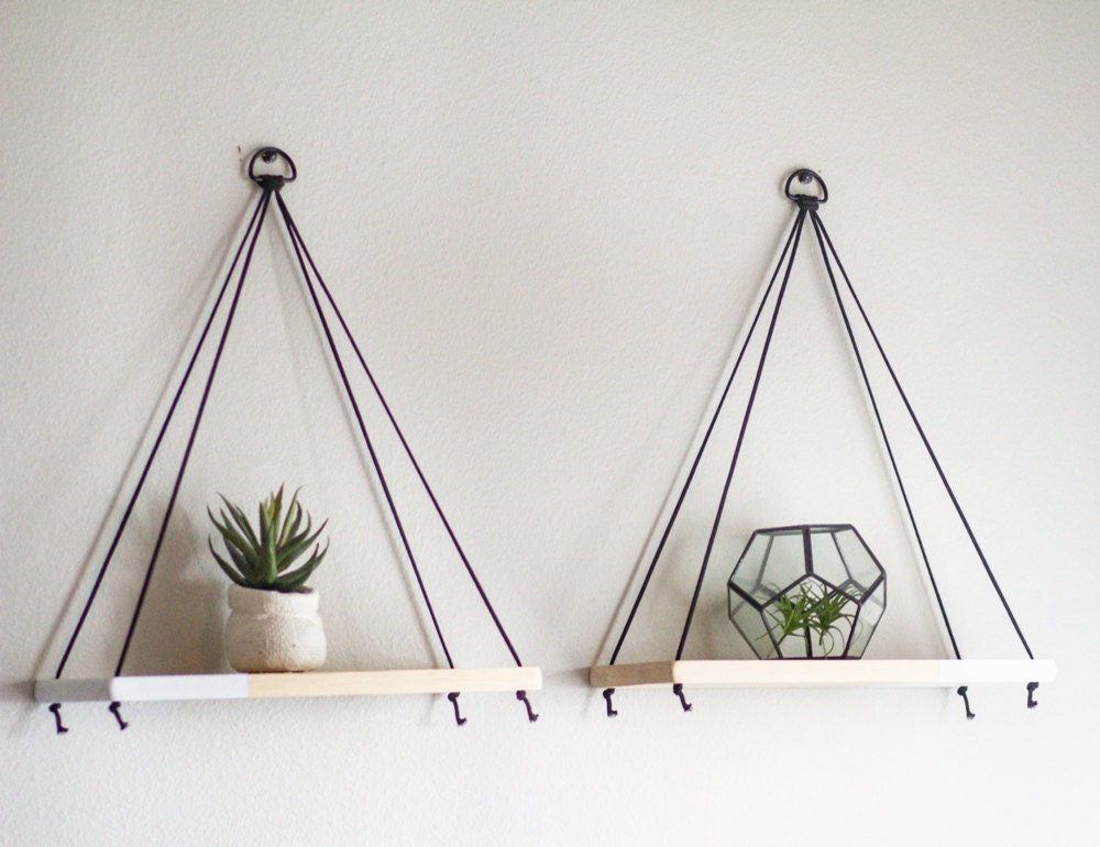 Set of 2 hanging shelves from TheCraftySwirl, $40
