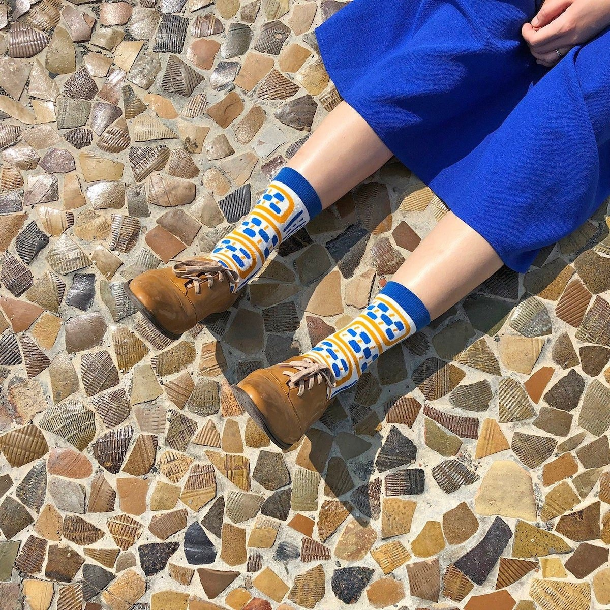 Vertical Pots unisex crew socks from Yu Square