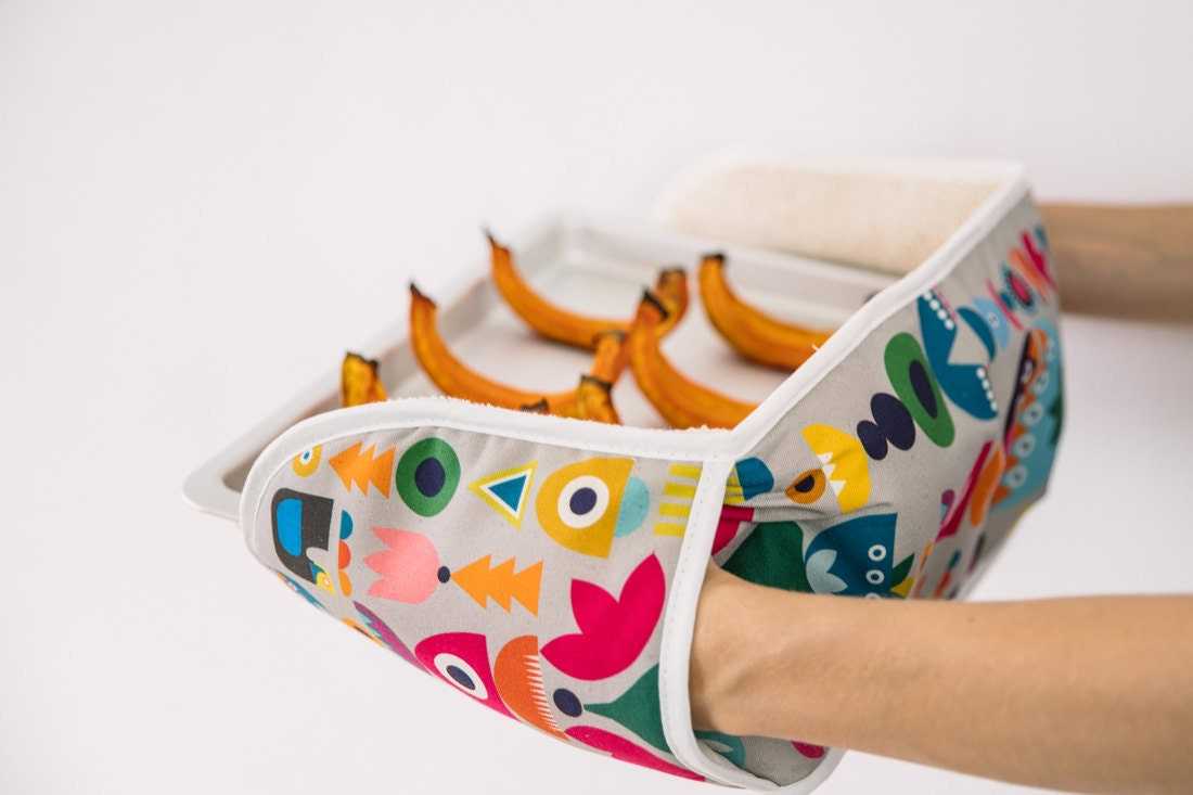 Scandinavian-inspired double oven mitt from Softer and Wild