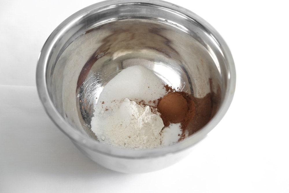 Cupcake ingredients in a bowl