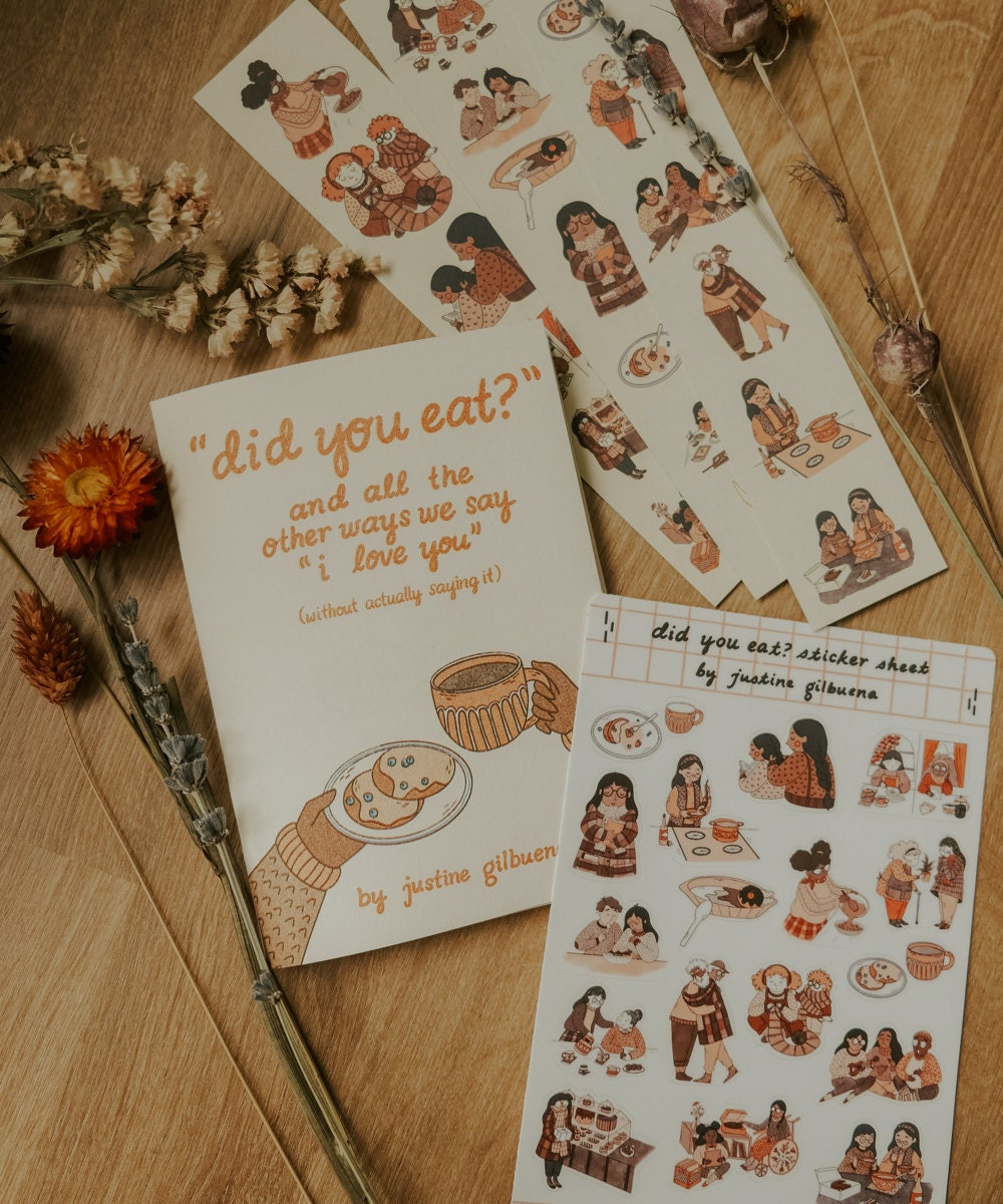 """""""Did You Eat"""" zine from Justine Gilbuena"""