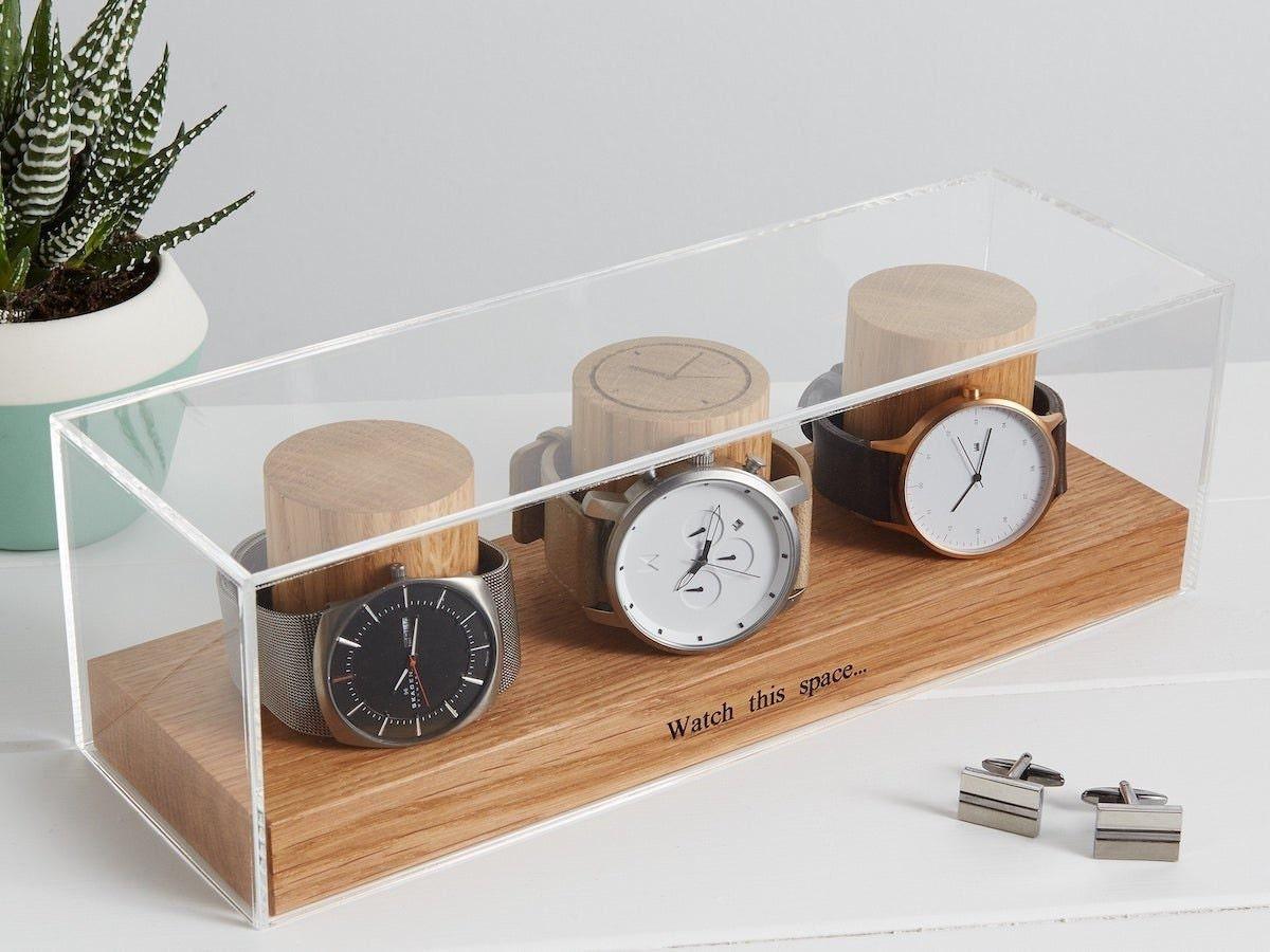 Personalized watch box from MijMoj