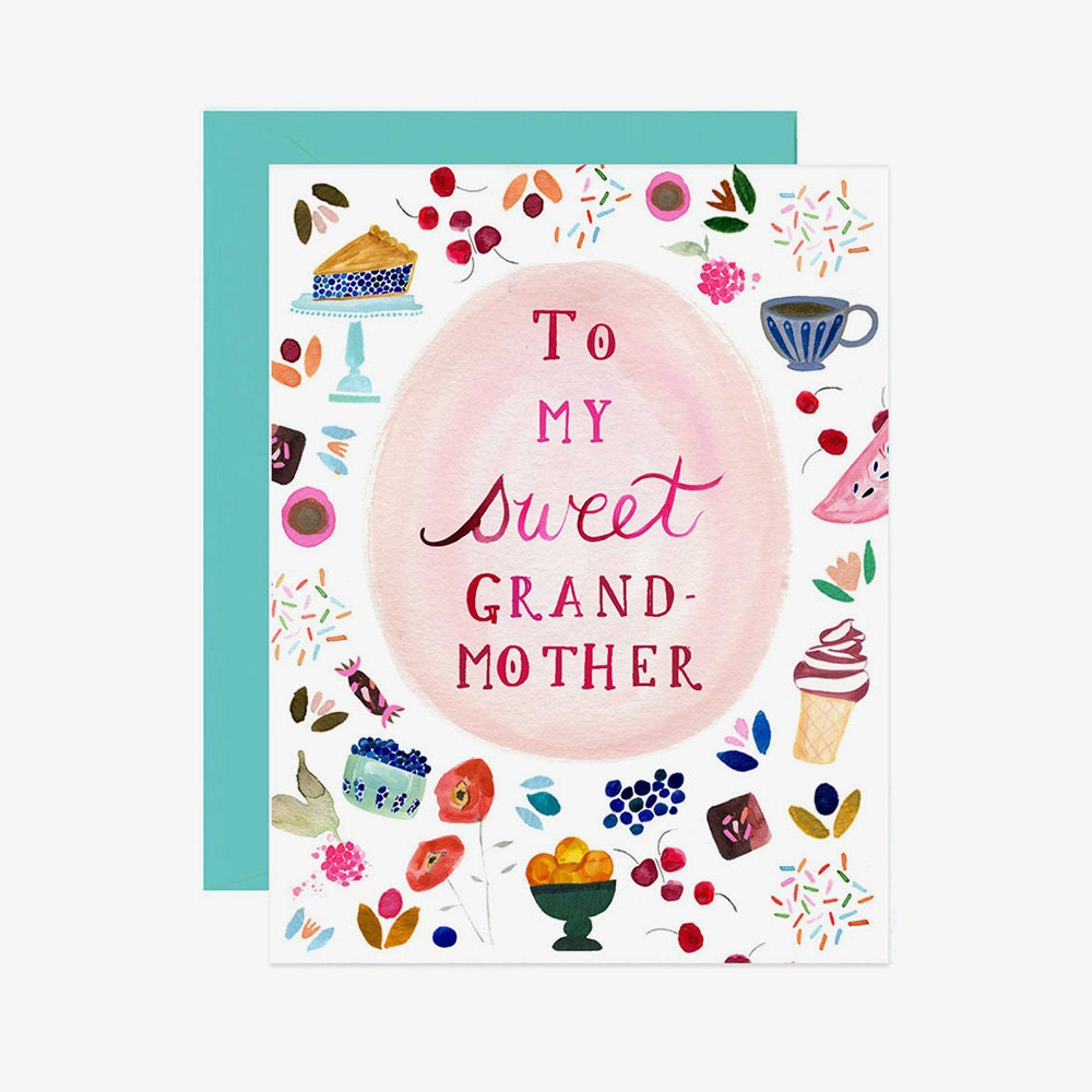 A unique Mother's Day card for a grandmother who loves to bake