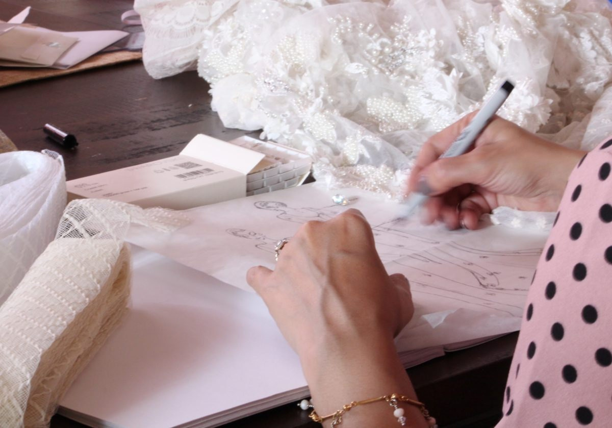 Smitha sketching gown designs