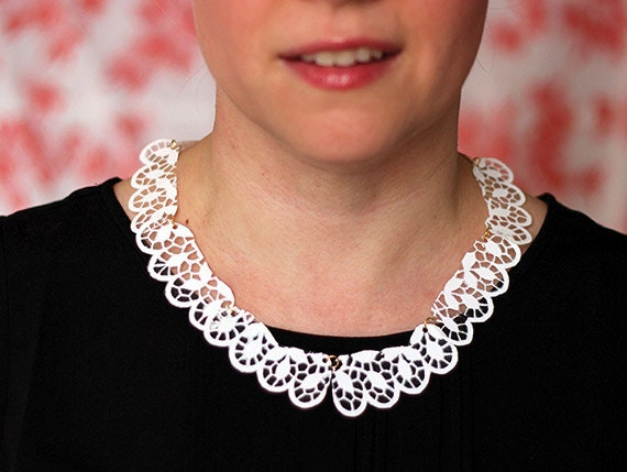A Downton Abbey-inspired doily necklace...
