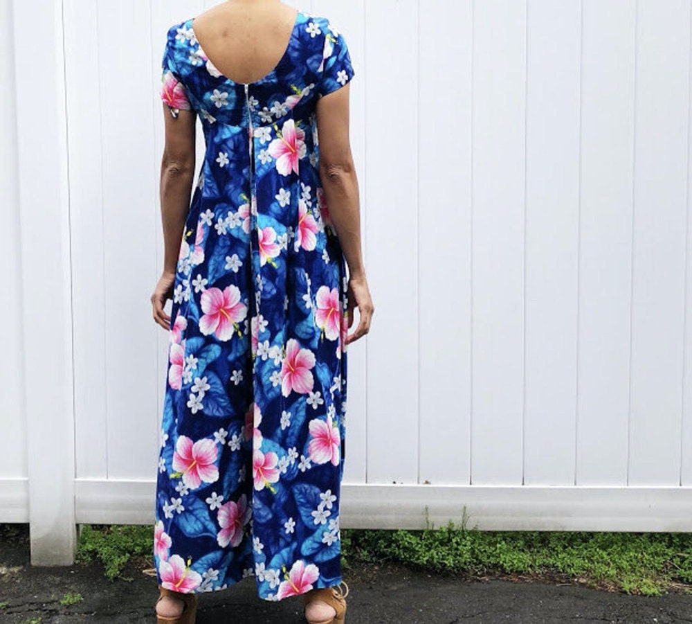 A vintage Hawaiian print maxi dress from Threads of Habit