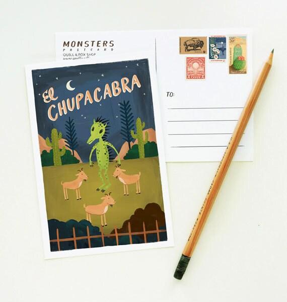 etsyfeaturedshop-quillandfox-handmadecards-papergoods-MONSTERS