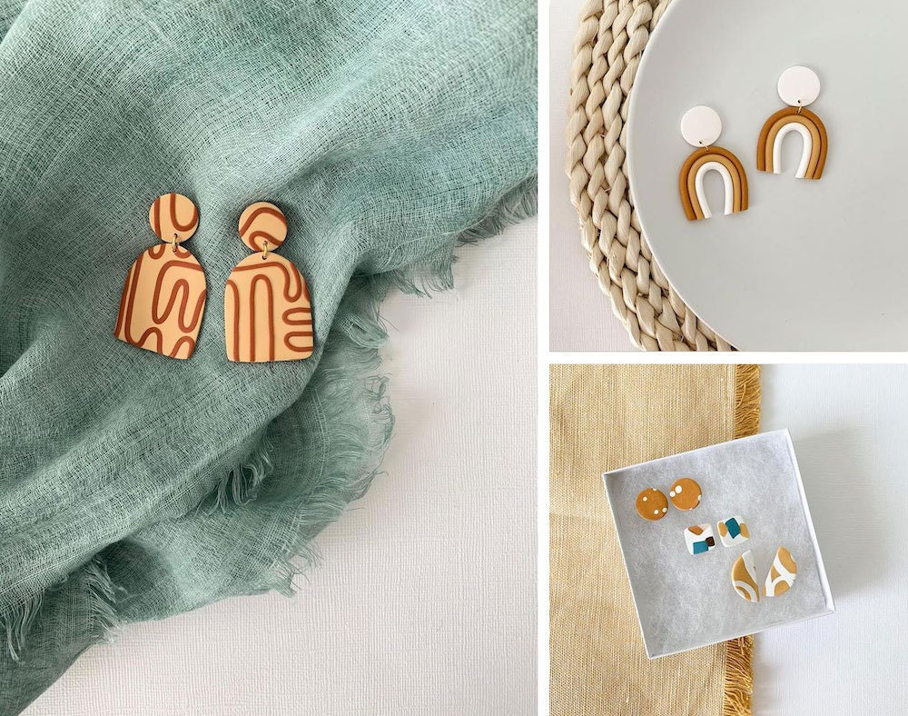 Assorted polymer clay jewelry from Silver Tuna