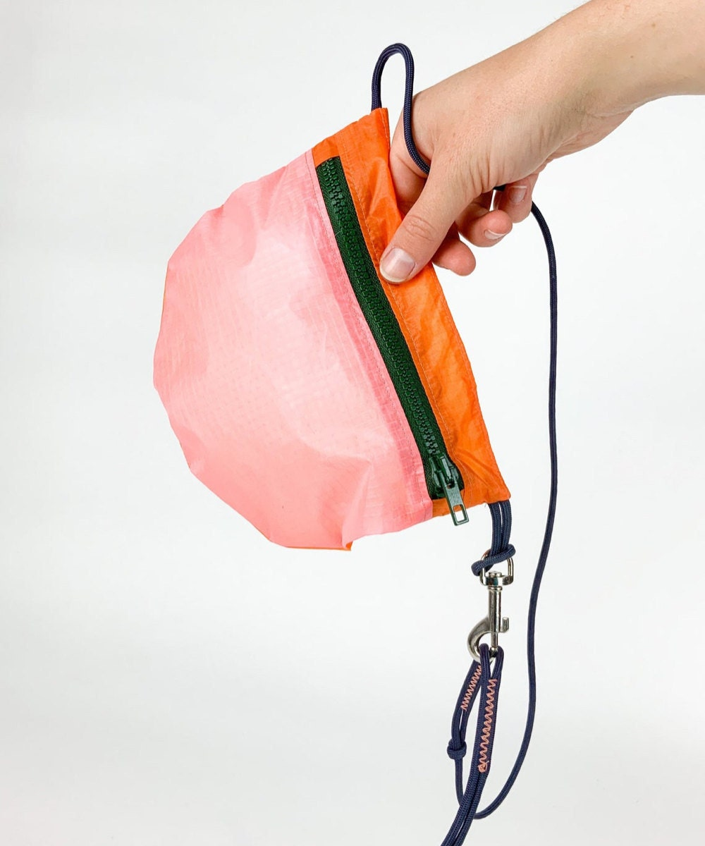 An upcycled nylon fanny pack from The Viv Goods