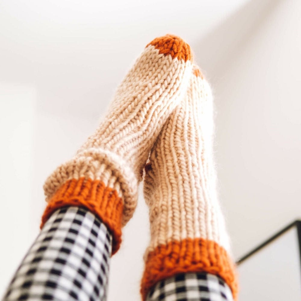 Cozy knit socks