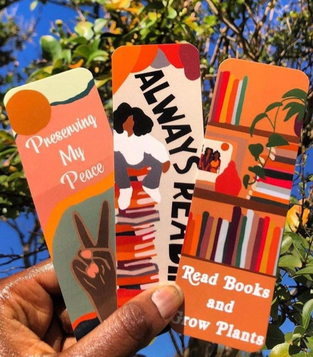 Bookmark three-pack by KLigg Co. on Etsy