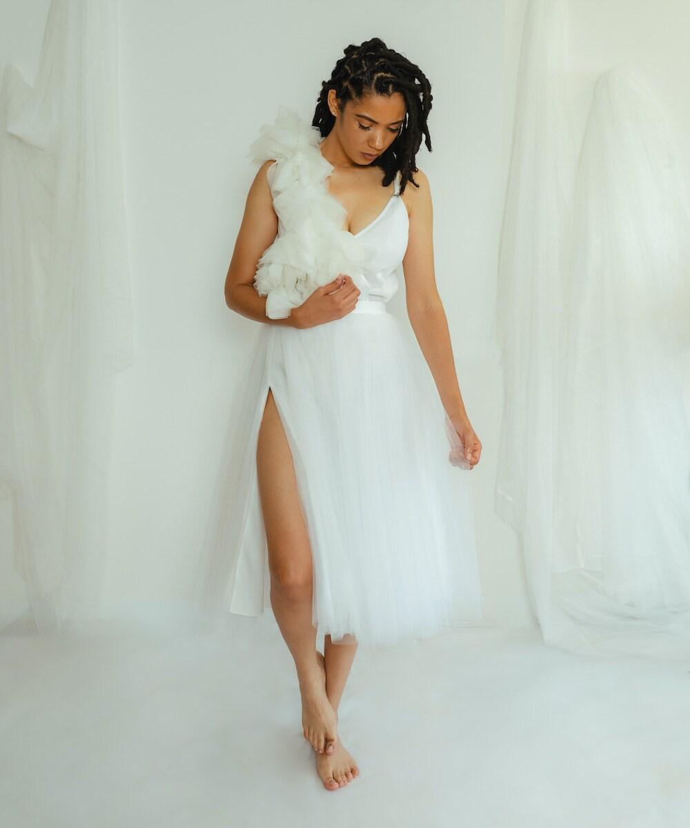 High split tulle skirt from The Lotus Bloom Co.