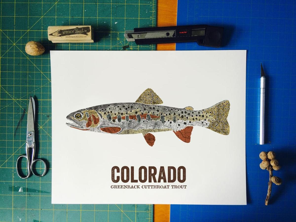 State fish print from Wooden Pencil Co., and more of the best Dad gifts from Etsy