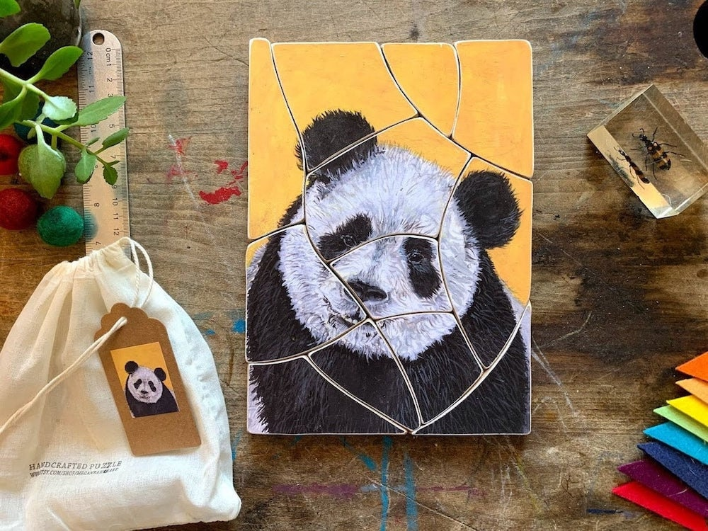 Children's 12-piece panda puzzle from Megan Bakke Art, $35