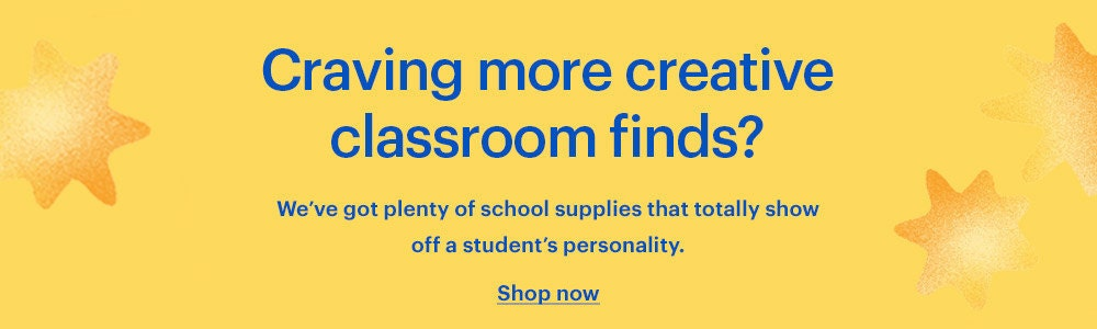 Discover more back-to-school and classroom supplies on Etsy