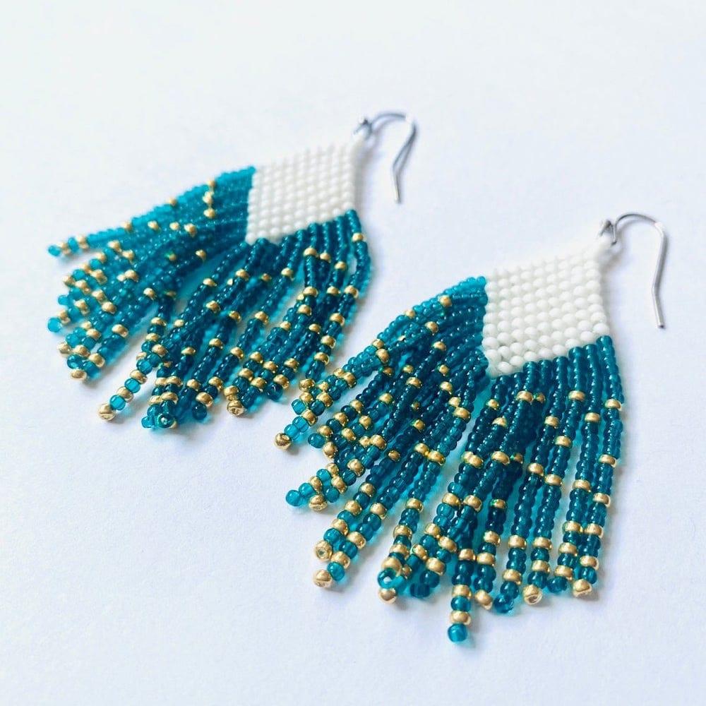 Beaded fall fashion fringe earrings from Virgo Sun