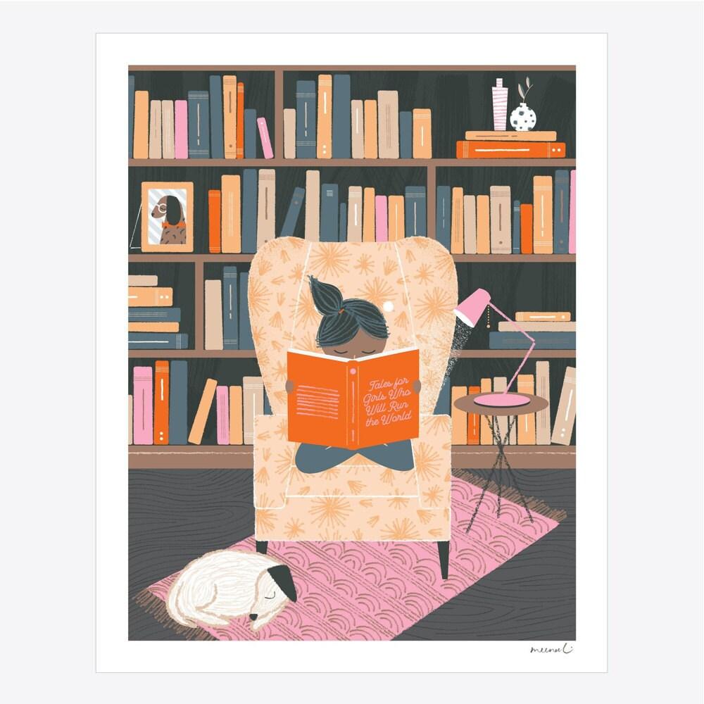 Reading Girl art print from Meenal Patel Studio
