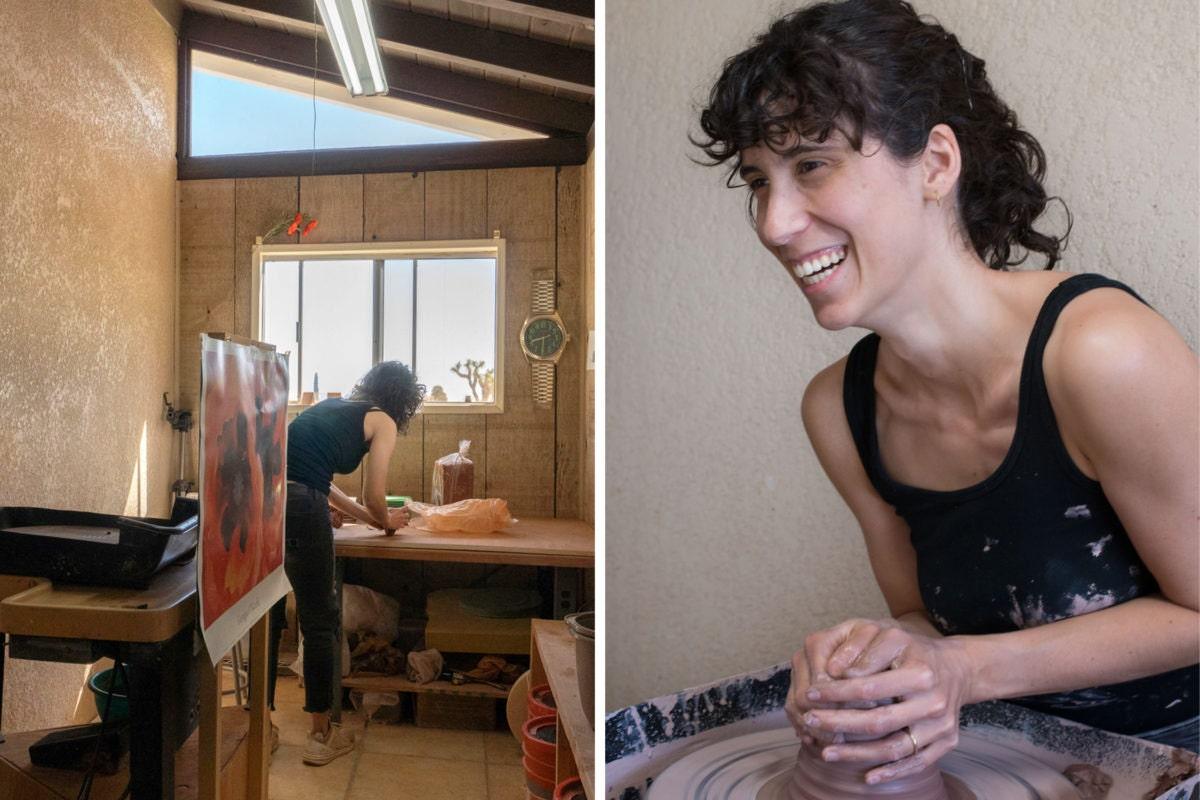 Zziee Ceramics creator Elizabeth Eisenstein in her studio.