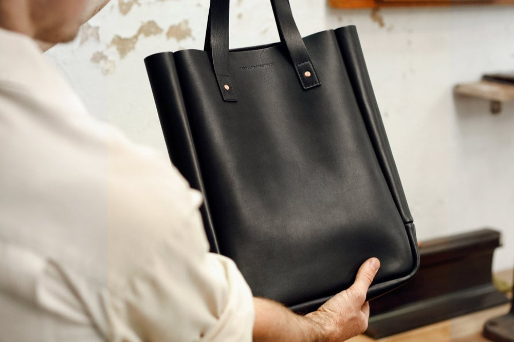 checking black bag