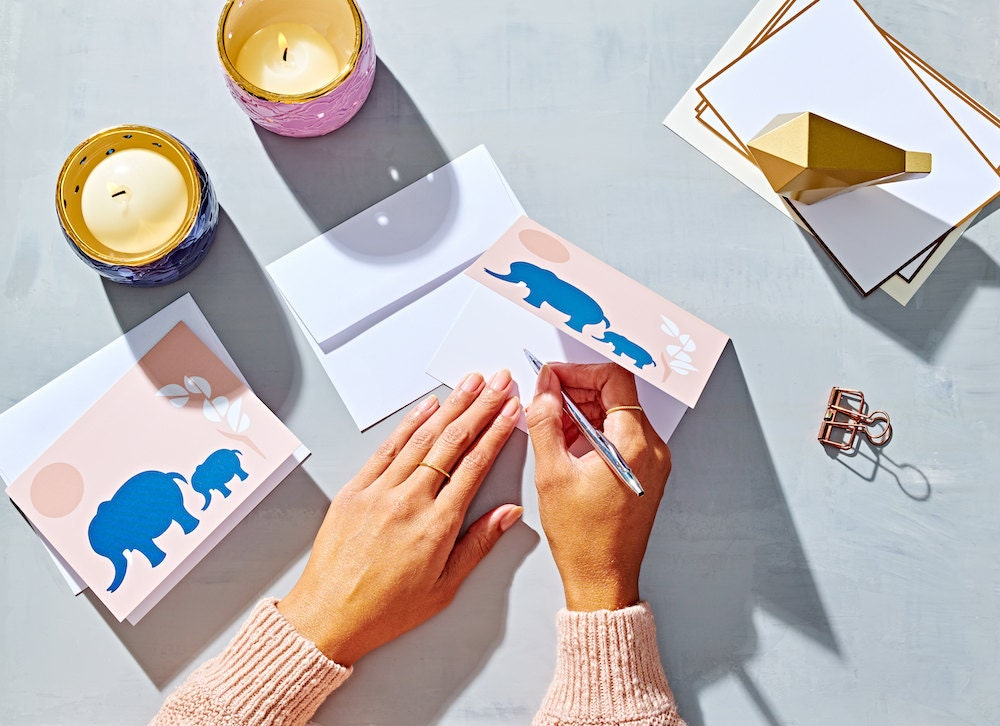 Elephant greeting cards from CanDid Art Accessories