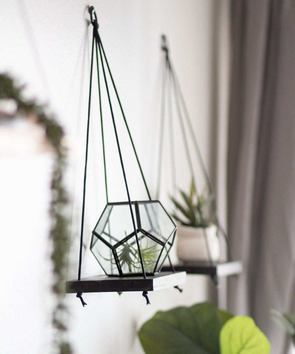 Set of 2 hanging mini shelves from TheCraftySwirl, $30
