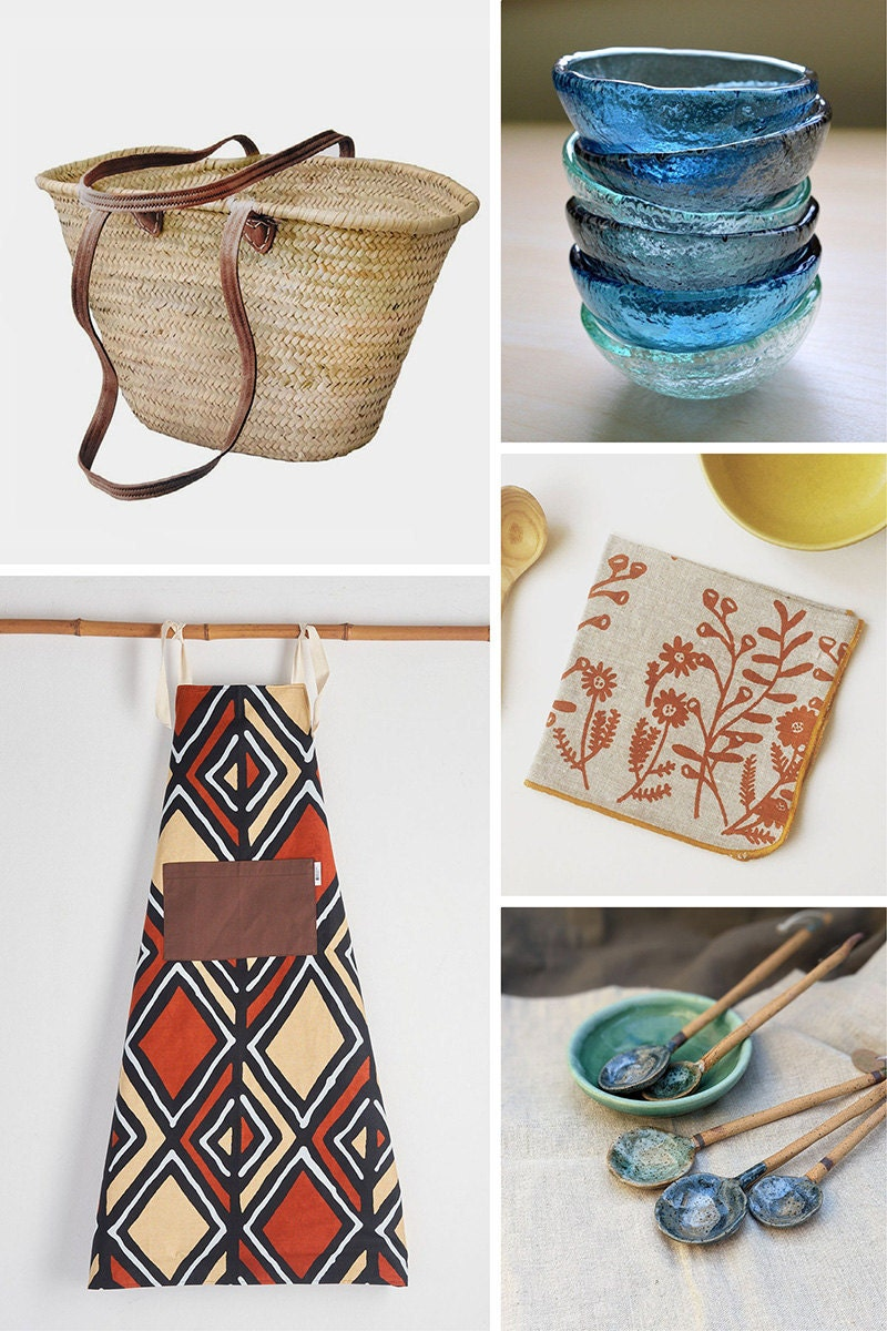 A collage of five additional items Padma has selected from Etsy