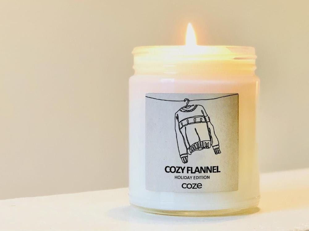 """""""Cozy Flannel"""" soy wax candle from Coze Handcrafted Comforts"""