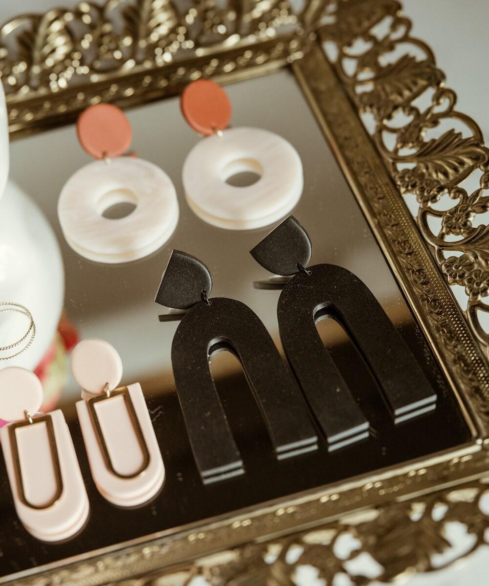 Assorted statement earrings from Kaju