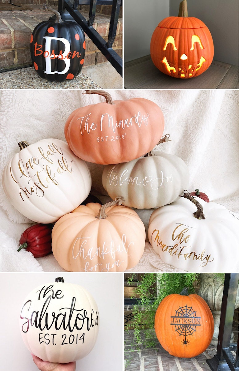 Five ideas for personalized Halloween pumpkins from Etsy