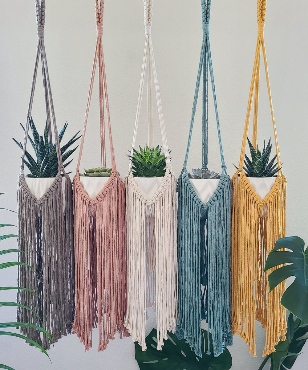 Plant hangers with long fringe from Sweet Home Alberti